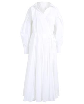 Robe portefeuille plissée en coton mélangé VALENTINO