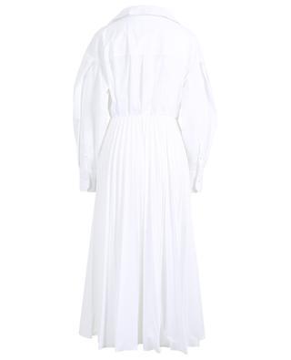 Pleated cotton blend wrap dress VALENTINO