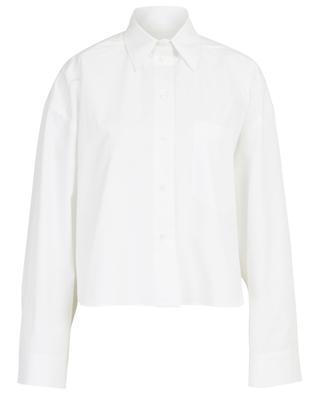 Cotton poplin wide cropped shirt VALENTINO