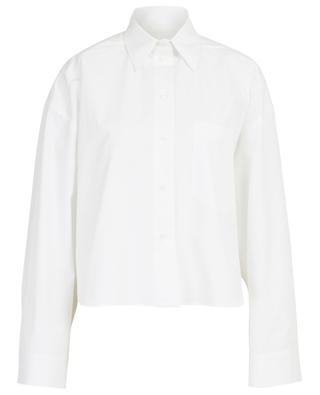 Large chemise raccourcie en popeline de coton VALENTINO