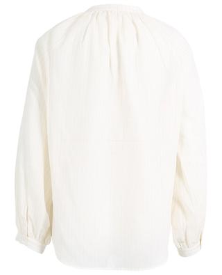Pashi V-neck blouse in cotton with Lurex stripes HANA SAN