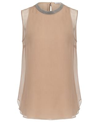 Sleeveless silk blouse BRUNELLO CUCINELLI