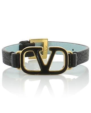 VLOGO grained leather bracelet VALENTINO