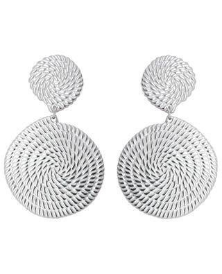 Silver spiral earrings IKITA