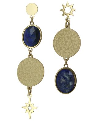 Golden earrings star and cabochon IKITA