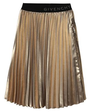 Sparkling pleated skirt with logo detail GIVENCHY