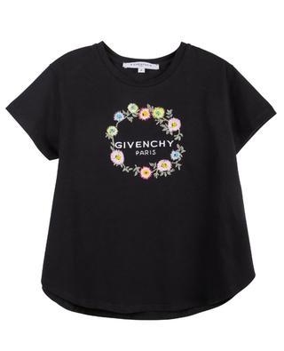 T-Shirt aus blütenbesticktem Stretch-Jersey GIVENCHY