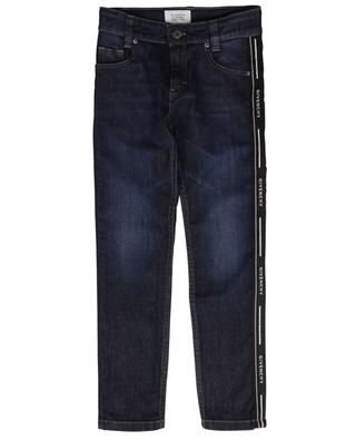 Rinse Wash slim fit jeans with logo band GIVENCHY
