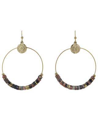 Ohrringe Ring, Steine und Sonne IKITA