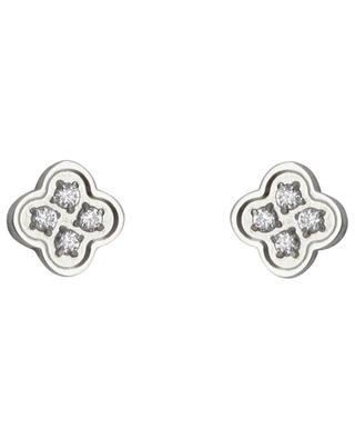 Clous d'oreilles fleur sertis de cristaux IKITA