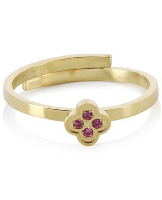 Verstellbarer Ring mit Blüte IKITA
