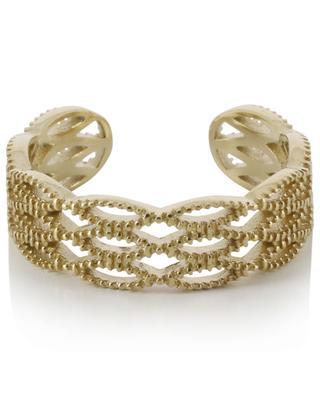 Open embossed golden ring IKITA