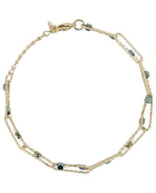 Double golden bracelet with stones IKITA