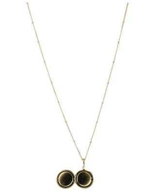 Golden necklace with star locket IKITA