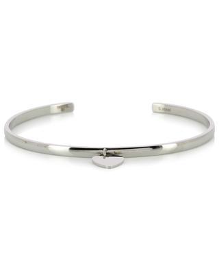 Steel bangle with heart pendant IKITA