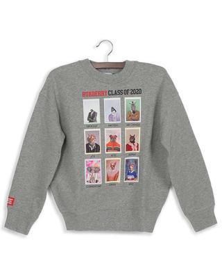Sweatshirt aus Baumwolle mit Tierprint Yearbook BURBERRY
