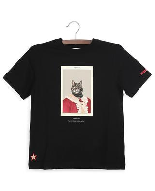 Pepper cat print cotton T-shirt BURBERRY