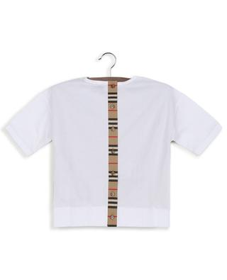 Aisha button-up icon stripe cotton T-shirt BURBERRY