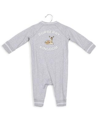 Logo and deer motif cotton jumpsuit BURBERRY