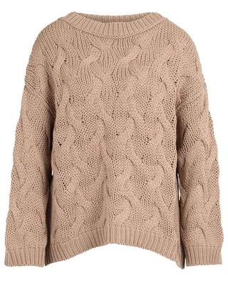 Soft Piuma airy cable knit jumper in chunky cotton thread BRUNELLO CUCINELLI