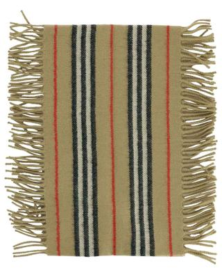 Icon Stripe embellished cashmere scarf BURBERRY