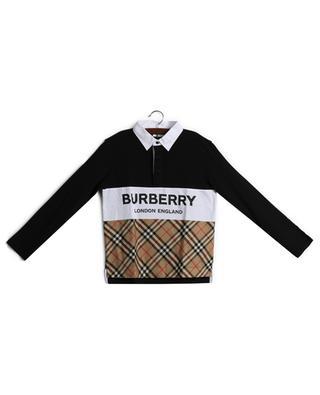 Polo à manches longues à motifs BURBERRY
