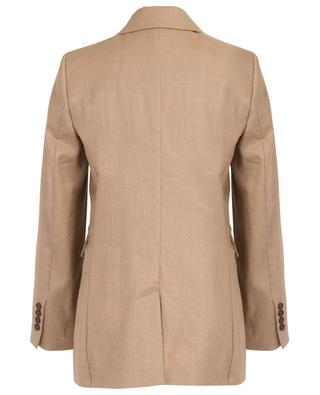 Double-breasted linen blend blazer BRUNELLO CUCINELLI