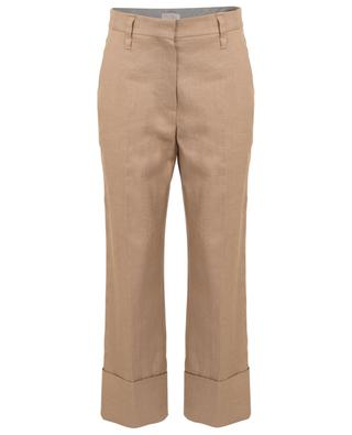 Pleated linen blend trousers BRUNELLO CUCINELLI