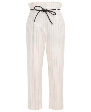 Pinstripe cotton blend trousers BRUNELLO CUCINELLI