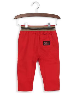 Dilan Icon stripe cotton twill trousers BURBERRY