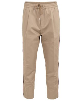 Cotton trousers with side two-tone piping MONCLER