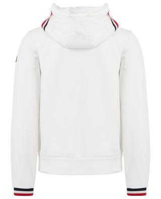 Hooded sweat jacket with tricolour trims MONCLER