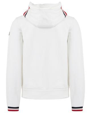 Sweat-shirt zippé à capuche bords tricolores MONCLER