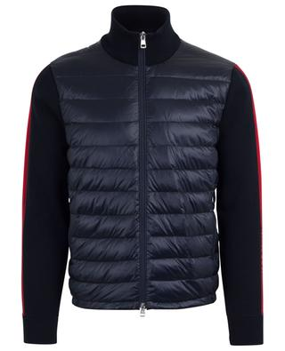 Cardigan with striped sleeves and down yoke MONCLER