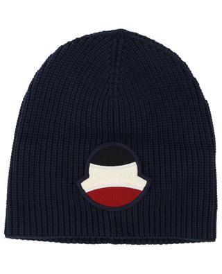 Rippstrick-Baumwollmütze mit Tennis-Logo MONCLER