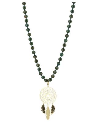 Long stone bead necklace Dreamcatcher MOON C° PARIS