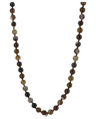 Long stone bead necklace Fatima's hand MOON C° PARIS
