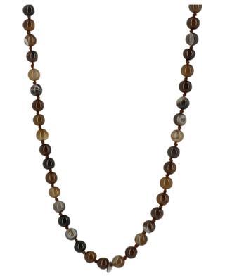 Lange Halskette aus Steineperlen Hand der Fatima MOON C° PARIS