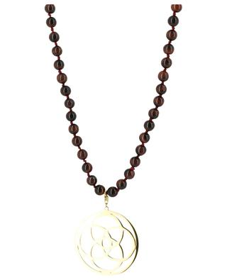 Lange Halskette aus Steinperlen Mandala MOON°C PARIS