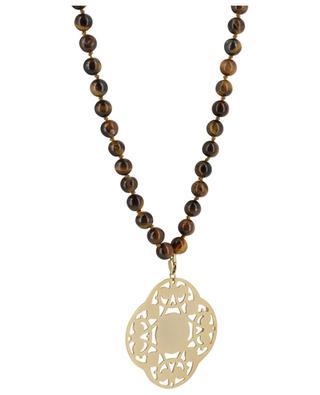 Halskette aus Tigerauge-Perlen Mandala MOON C° PARIS