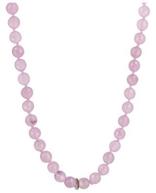Halskette aus facettierten Steinen mit goldenem Blatt MOON C° PARIS