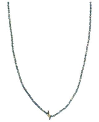 Facetted bead necklace with cross pendant MOON C° PARIS