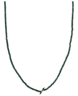 Sautoir en perles facettées pendentif multicolore MOON°C PARIS