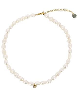 Choker aus unregelmässigen Perlen mit Kristall MOON C° PARIS