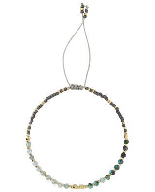 Stone bead cord bracelet MOON C° PARIS