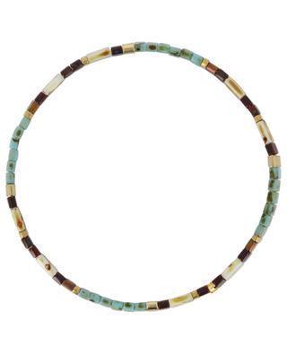 Elastisches Armband aus flachen Perlen MOON°C PARIS