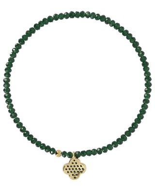 Elastisches Armband aus Steinperlen Blüte MOON C° PARIS