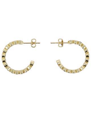 Golden hoop earrings with multicolour crystals 2 cm MOON C° PARIS