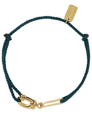 Cord bracelet with golden XL clasp MOON C° PARIS