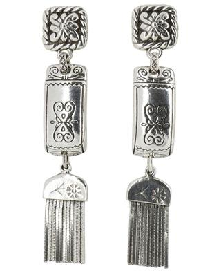 Colette engraved silver stud earrings GAS BIJOUX